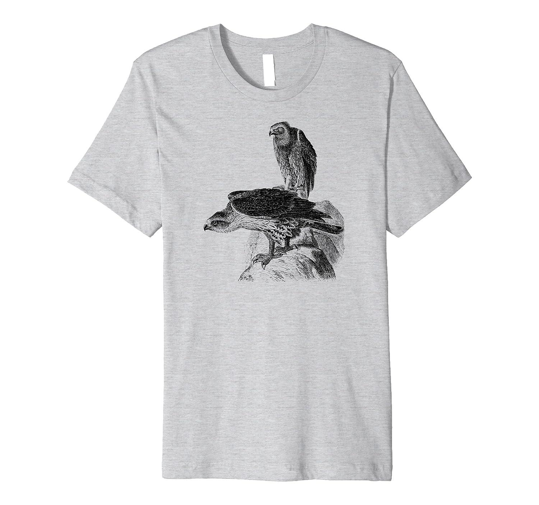 Mintage Hawk Eagles Fine Jersey T-Shirt-AZP