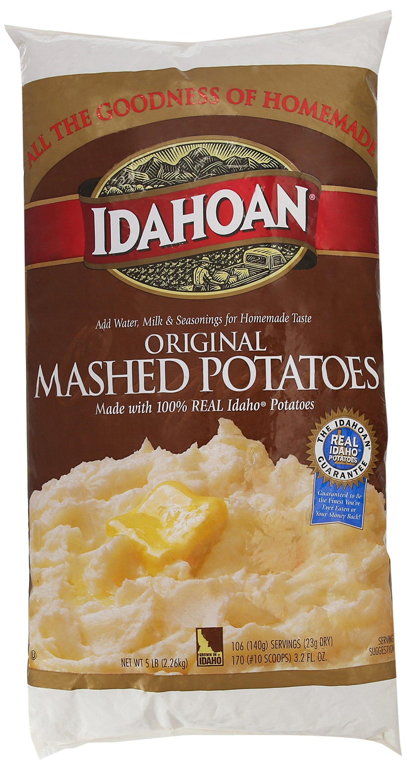 Idahoan Mashed Potato Flakes, Original, 5 Pound