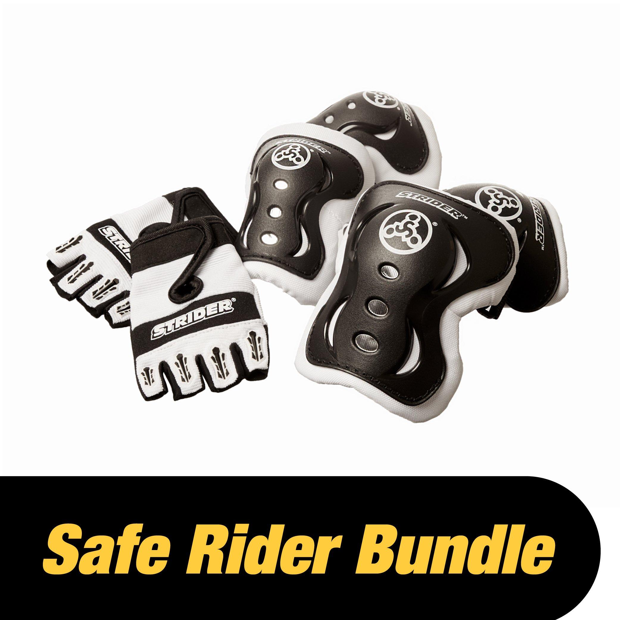 Strider - Safe Rider Bundle, Half Finger Gloves, Large