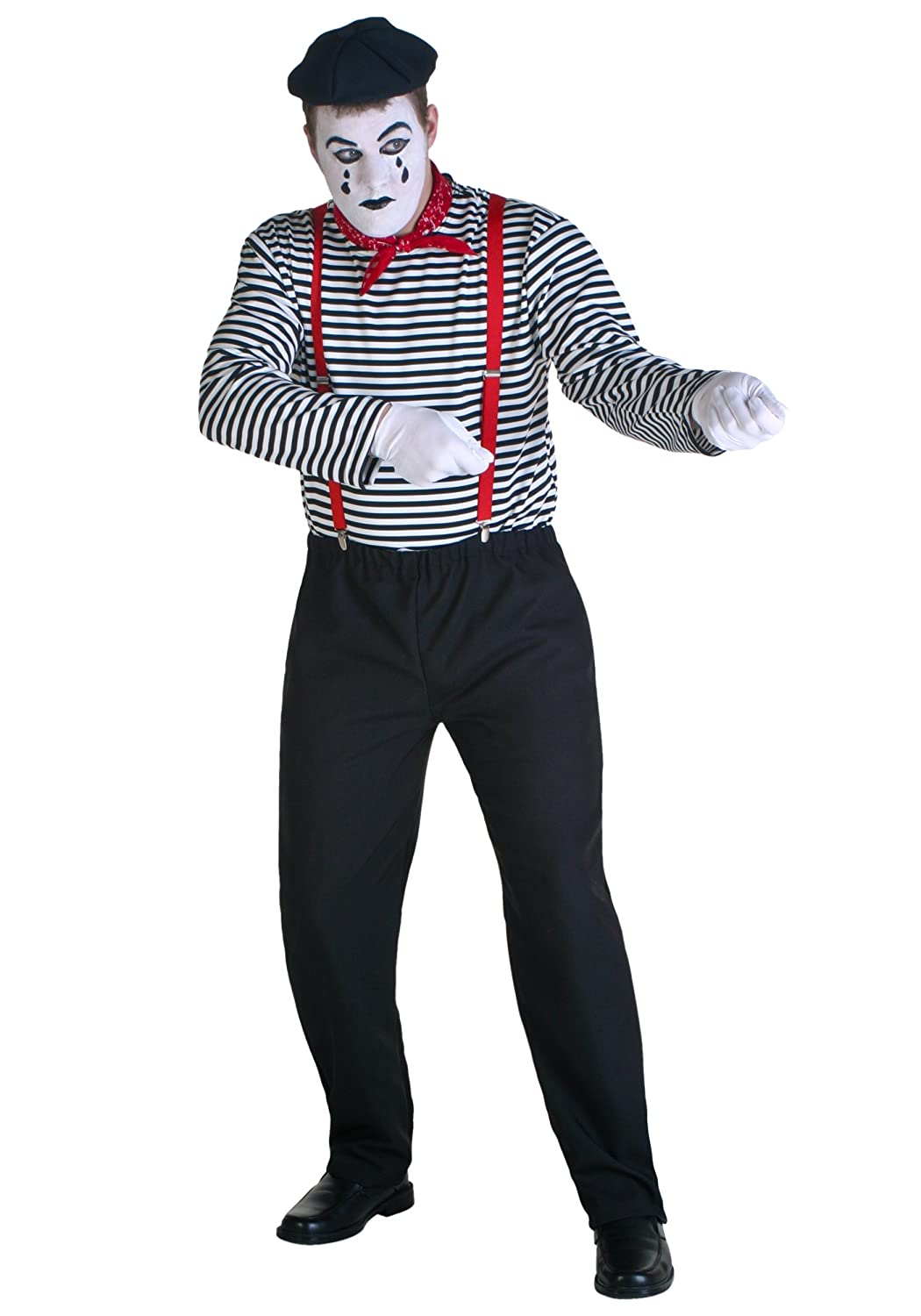amazoncom mime costume clothing - Amazon Halloween Costumes Men