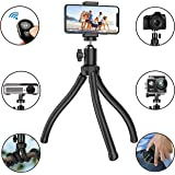 Flexible Phone Tripod, Adjustable Anti-Crack Camera Tripod with Wireless Remote Shutter and Universal Clip 360°Rotating Tripod Stand Holder for Camera GoPro, iPhone, Android Phone (Upgraded)