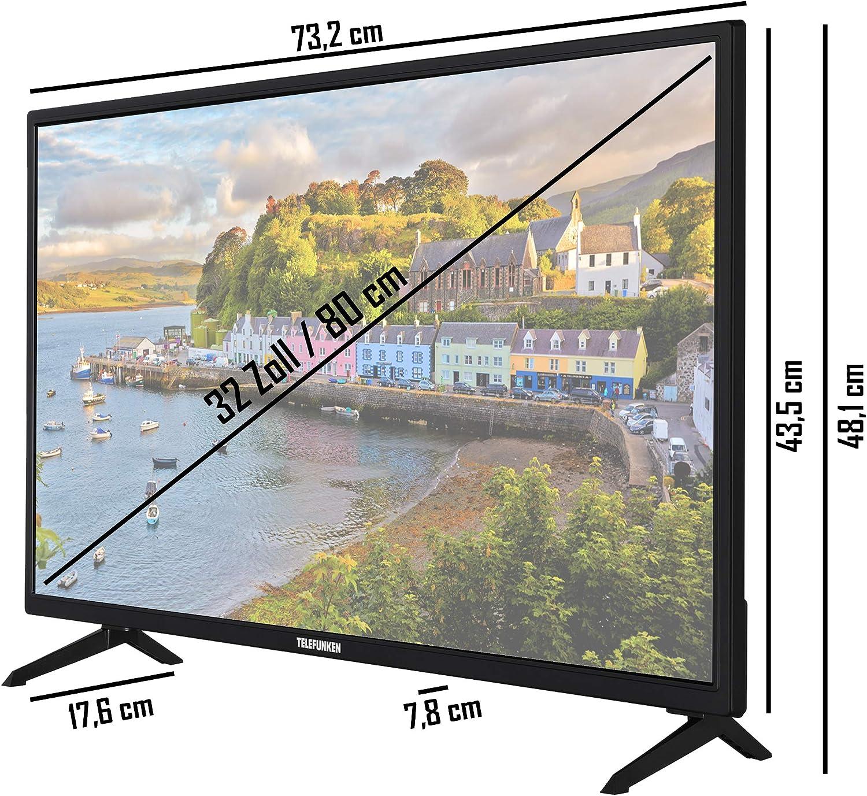 Telefunken Xf32aj600 32 Zoll Fernseher Android Tv Full Hd Triple Tuner Smart Tv Bluetooth Modelljahr 2021 Heimkino Tv Video