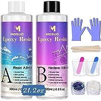 Duidelijke epoxyhars Crystal Clear Resin Kit 600ml / 22.2oz - 2-delige kunsthars Duidelijke coating en giethars voor…