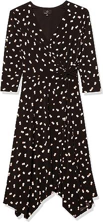 Ronni Nicole Damska Textured Mock Wrap Kleidung, Business/Leger: Odzież