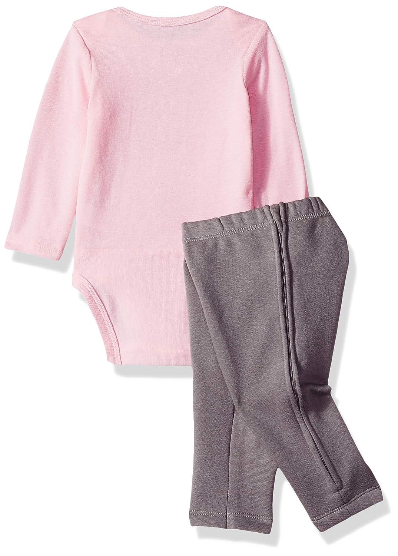Hanes Baby Zippin Zip Pant with Bodysuit and Fleece Hoodie Layette Set