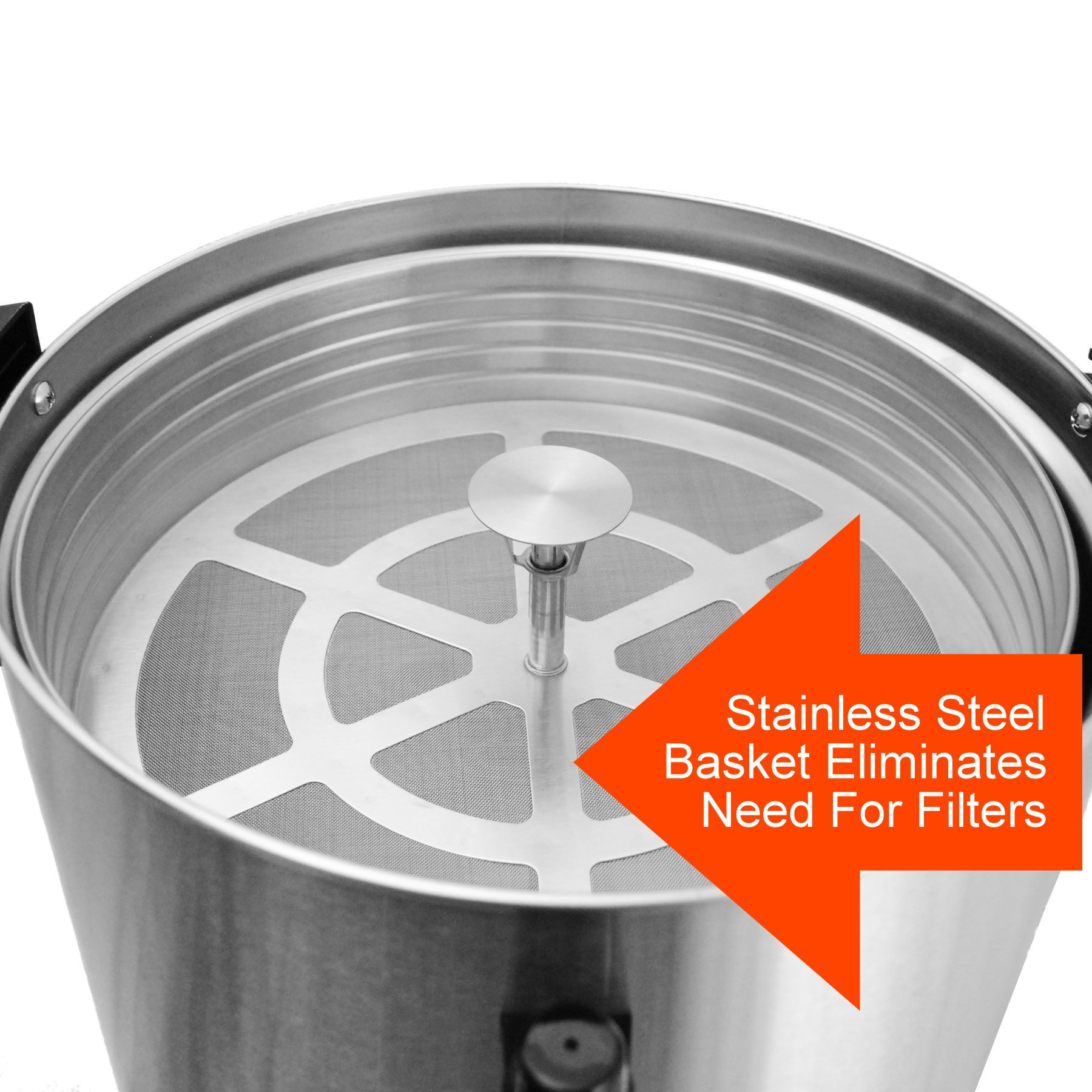 Cafe Amoroso 100 Cup Stainless Steel Coffee Urn - Premium Commercial Double Wall Design - Perfect For Catering, Churches, Banquets, Restaurants - 1 Year Warranty by Cafe Amoroso (Image #3)