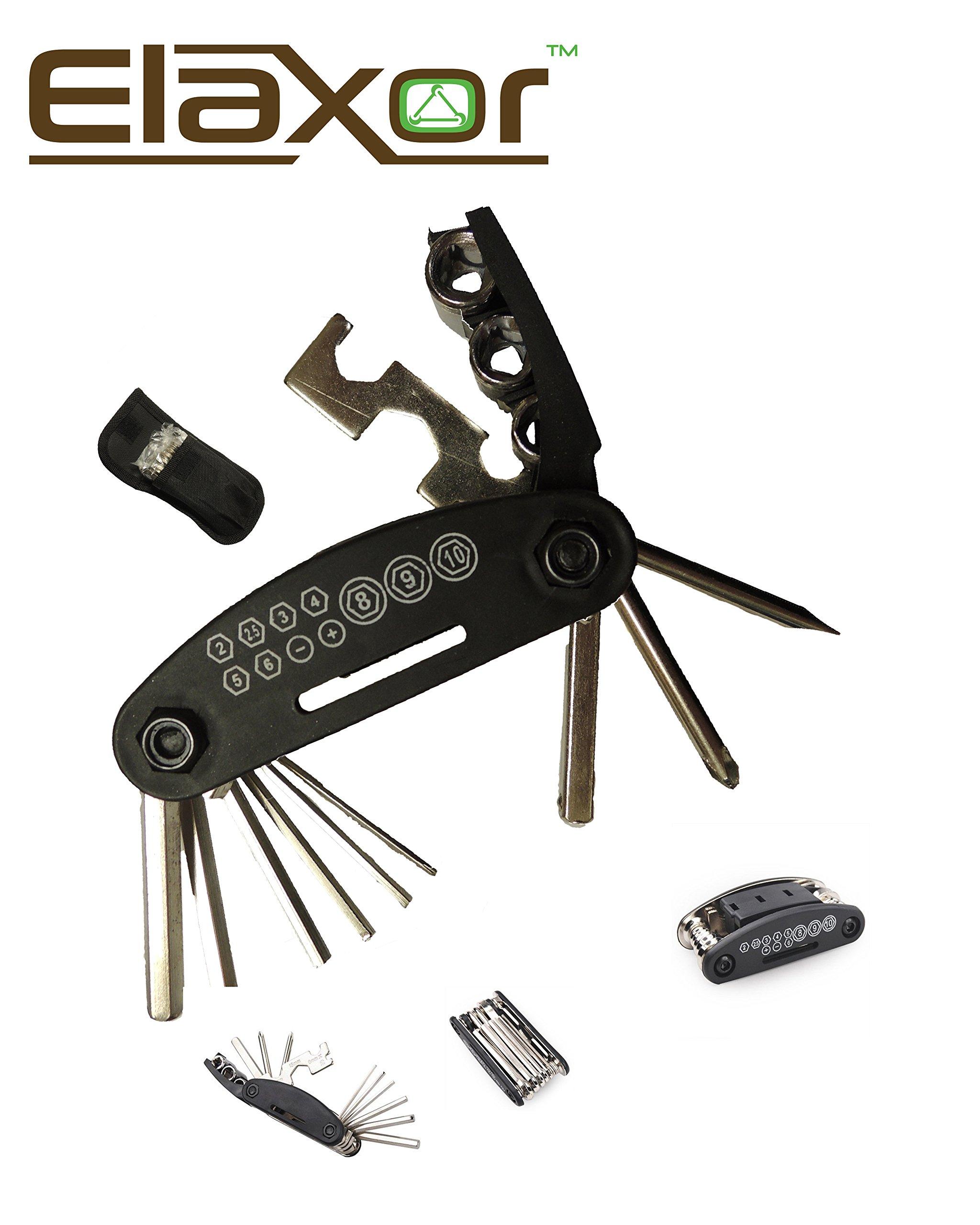 Elaxor™ 16-Multi Function Bike, Bicycle, Cycling Mechanic Tool Kit Set. For Repairing Bike Bicycle Fast, Easy & Efficient