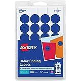 Avery Print/Write Self-Adhesive Removable Labels, 0.75 Inch Diameter, Dark Blue, 1,008 per Pack  (5469)