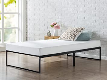 zinus 12 inch platforma bed frame mattress foundation no box spring needed metal - Bed Frames Without Box Spring