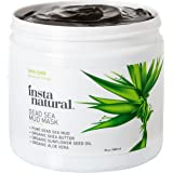 InstaNatural Dead Sea Mud Mask 19 oz- Reduce Facial Pores - Organic for Oily & Acne Prone Skin, Blemishes & Complexion - Mineral Infused Fine Line Reducing Product with Shea Butter & Aloe Vera