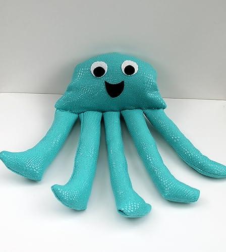 Amazon Com Happy Jellyfish Plush Large Blue Stuffed Animal