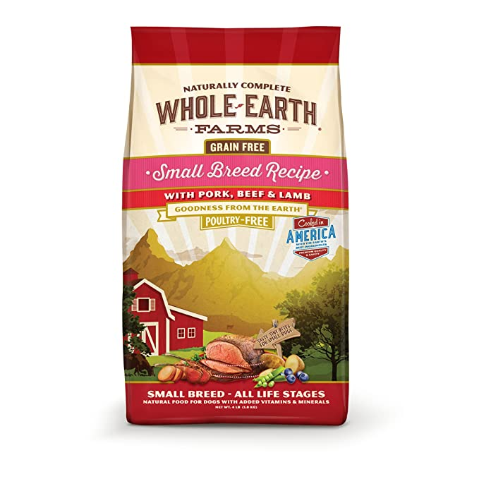 Whole Earth Farms Small Breed Recipe - The Best Food for Pugs of All Life Stages