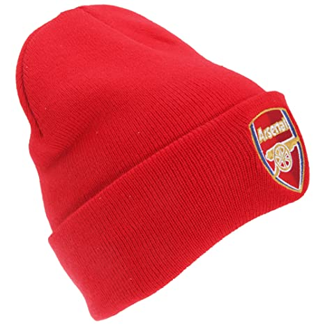 b93db07874e Image Unavailable. Image not available for. Color  Arsenal FC Knitted Bronx Beanie  Hat Red ...
