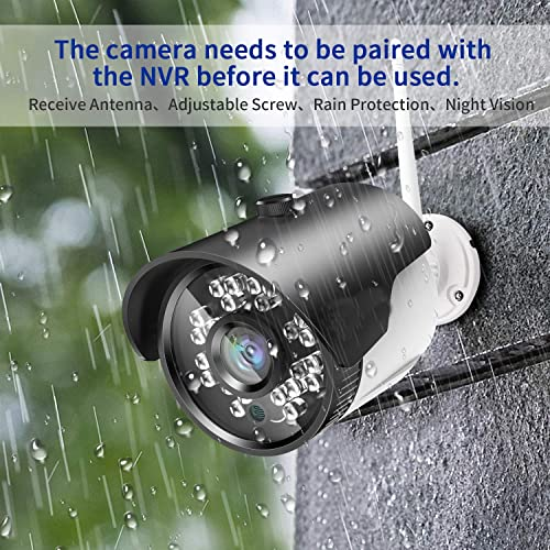 H.264 2MP Wireless Security Cameras System, 4CH 1080P HD NVR 4pcs 1080P Wireless Outdoor Indoor Waterproof Surveillance Cameras 100FT Night Vision with 1TB HDD