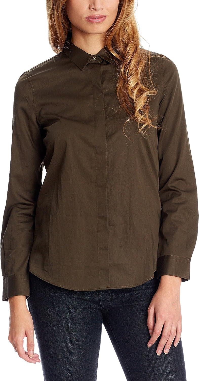 Pedro del Hierro Camisa Mujer Caqui ES 36: Amazon.es: Ropa y accesorios