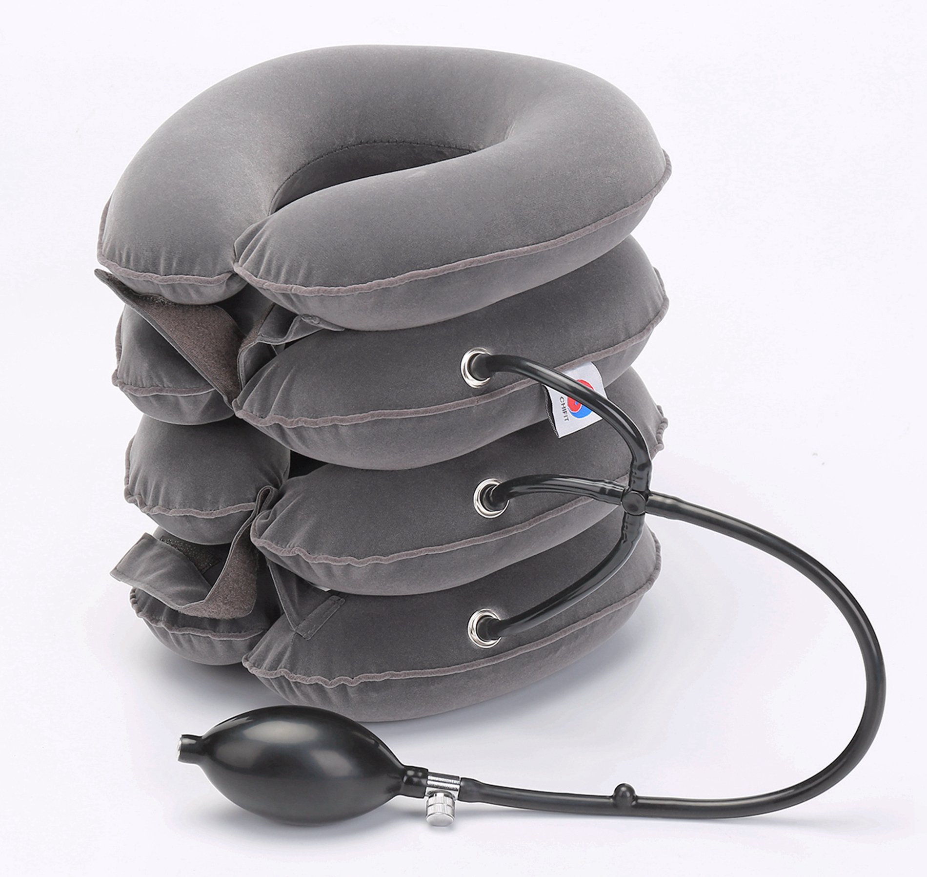 ChiFit Neck Traction - 4Layer Cervical Neck Traction Device - Neck Massager & Collar - Neck & Shoulder Pain Relief - Cervical Collar for Travel/Home Improved Spine Alignment