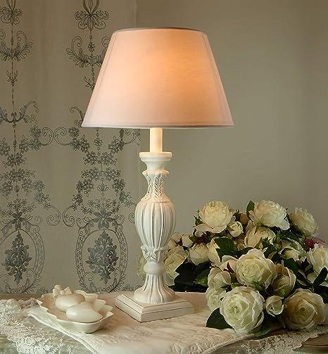 CdCasa Lampe de Table, Lampe à Poser Vintage Shabby Chic