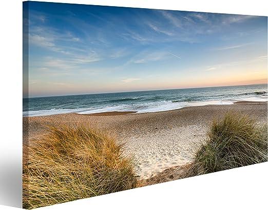 Ostsee Strand Panorama Format Bild auf Leinwand Poster Wandbilder