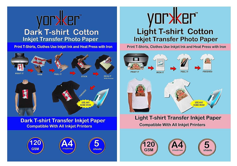Inkjet Dark heat Transfer Paper Heat Press DIY T-shirt Printing  :