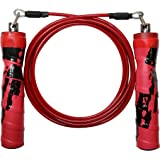 GoFit 9' Pro Cable HITT Jump Rope with Padded Contour Grip, for MMA Training, Cross Training, Daily Exercise, CrossFit and Cardio Training