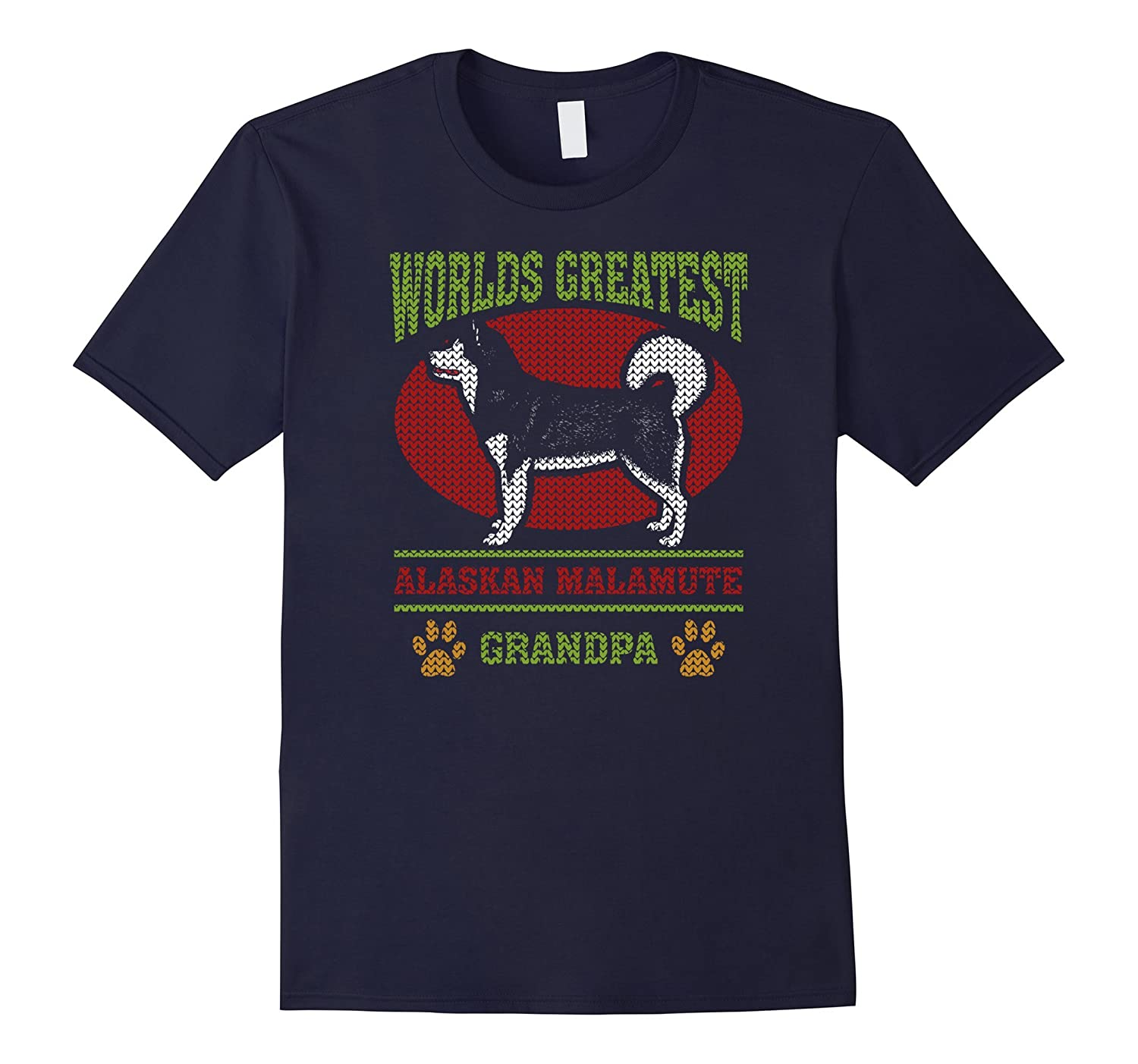 Mens Worlds Greatest Alaskan Malamute Grandpa T-shirt-ah my shirt one gift