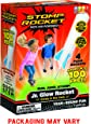 Stomp Rocket Jr. Glow Rocket, 4 Rockets and Toy Rocket Launcher - Outdoor Rocket Toy Gift for Boys and Girls Ages 3 Years and Up