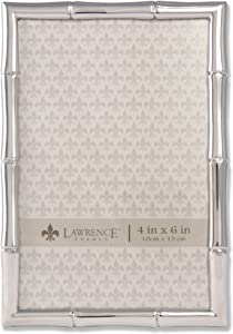 Lawrence Frames 710146 Silver Metal Bamboo Picture Frame, 4 by 6-Inch