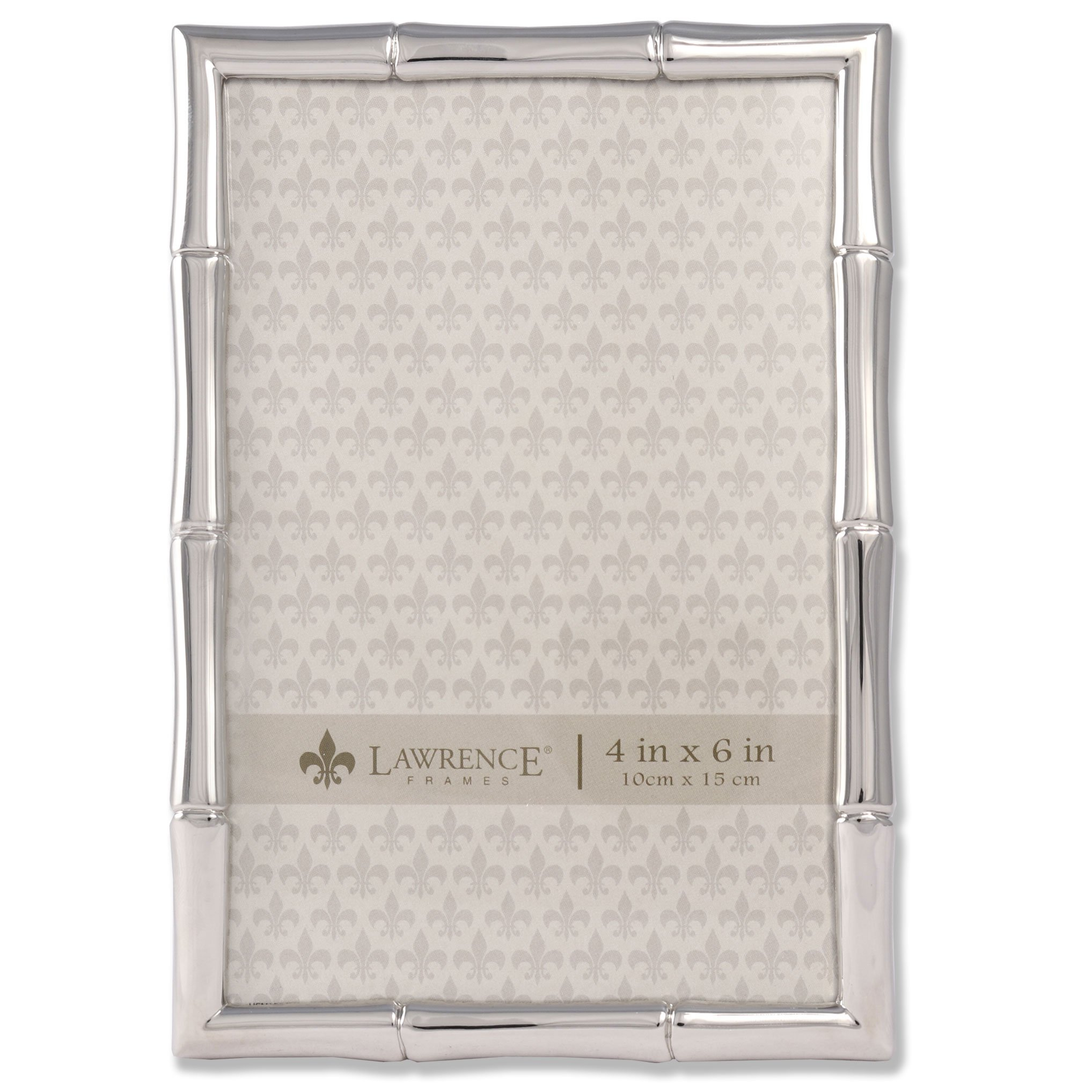 Lawrence Frames 710146 Silver Metal Bamboo Picture Frame, 4 by 6-Inch by Lawrence Frames