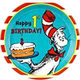 Dr Seuss 1st Birthday Party Supplies - Dinner Plates (8)