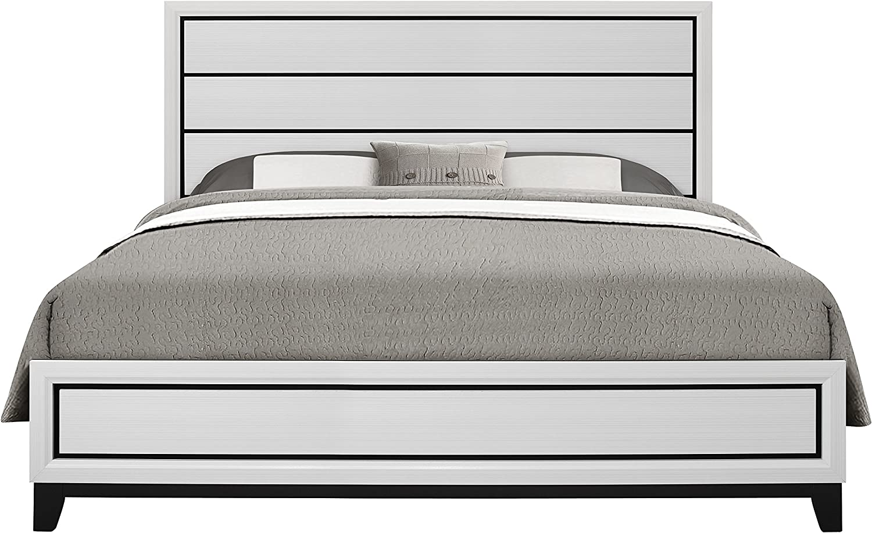 Global Furniture USA Kate, King Bed, White
