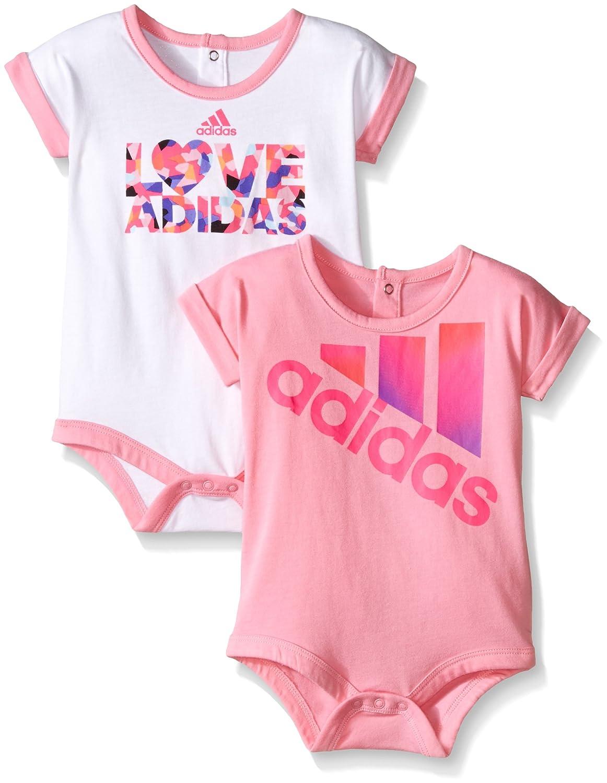 calidad autentica salida para la venta zapatos de separación adidas Baby Girls' 2 Pack Bodysuits