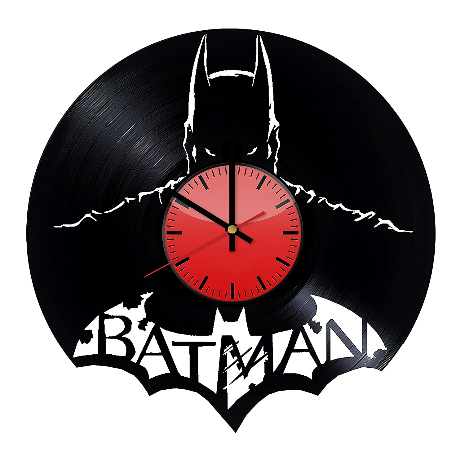 Amazon.com: Batman American DC Comics Art Decor Vinyl Wall Clock - Original Gift Idea for Him or Her - Cool Home Decor Wall Art: Home & Kitchen