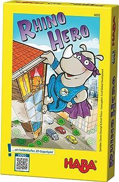 Haba - Juego de cartas Rhino Hero, 2 a 5 jugadores (4092): Amazon.es: Juguetes y juegos