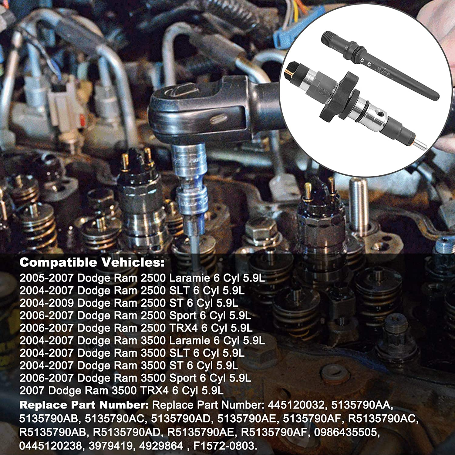 Replacement Parts Bicos 5135790AA Diesel Fuel Injector with ...