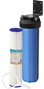 "APEC Water Systems CB1-SED20-BB Whole House Sediment Water Filter 20"" Big Blue Home Filtration System"