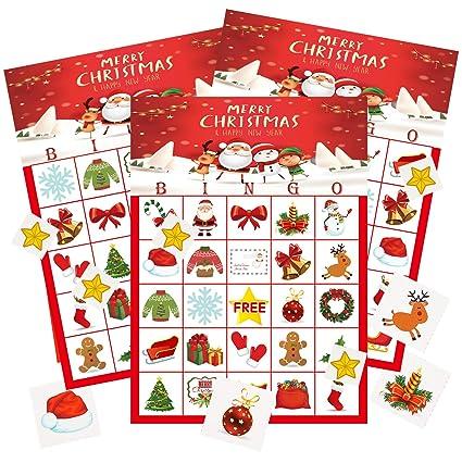 Christmas Bingo.Miss Fantasy Christmas Bingo Game Christmas Party Games Xmas Activities For Families Ugly Party Games For 24 Players Xmas Gifts For Kids Bingo
