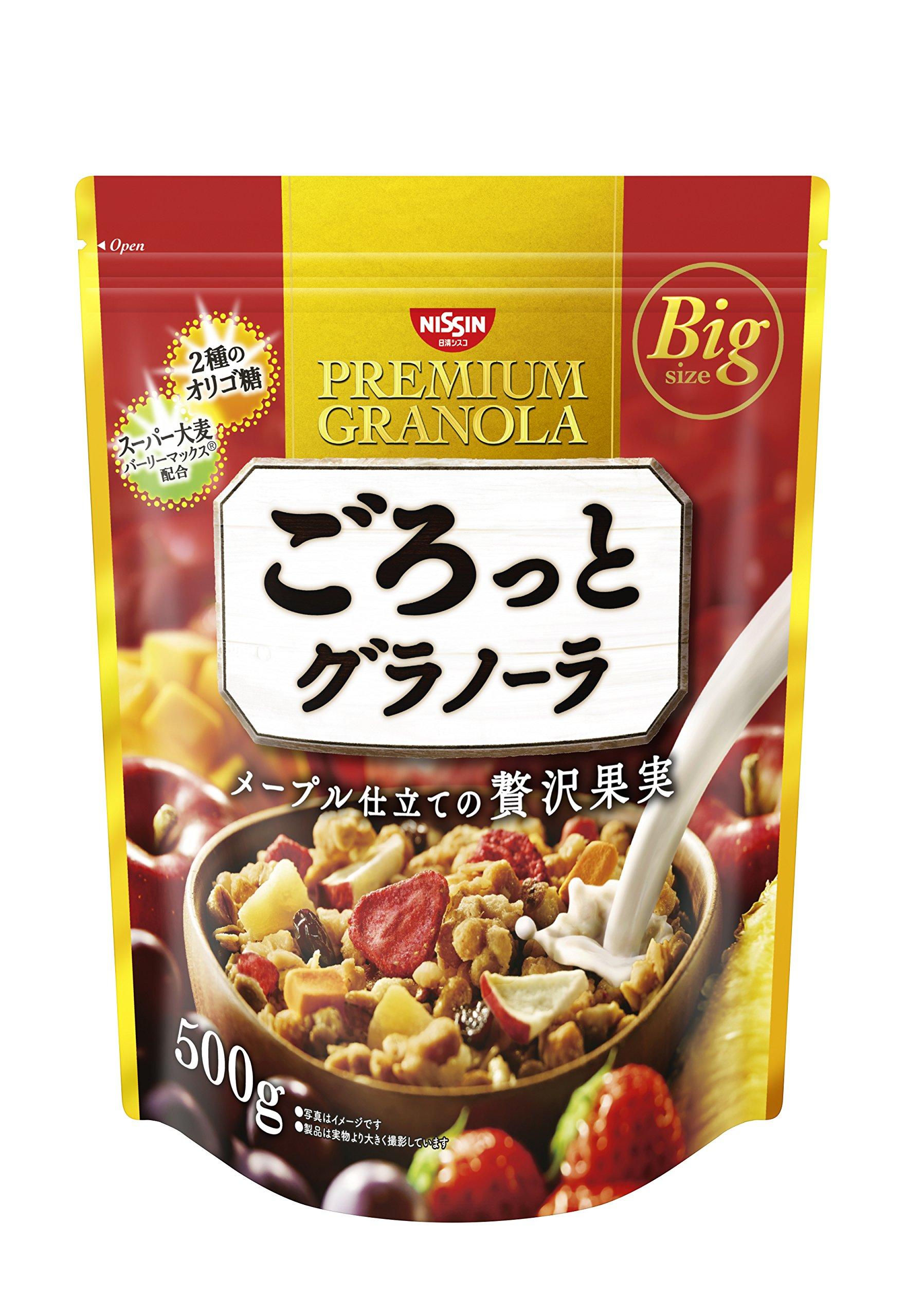Nisshin Cisco Gorotto granola luxury fruit 500gX6 bags