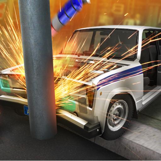 Real Car Crash Police 3D (Fender Grill)