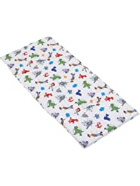 Disney Toy Story 4 - Blue, Green, Red & White Preschool Nap Pad Sheet, Blue, Green, Red, White