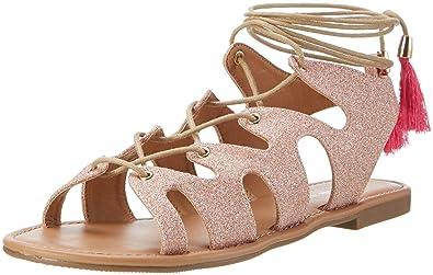 Womens 315719 Xq-818-48 10 Glitter Wedge Heels Sandals, Gold, 14 Buffalo