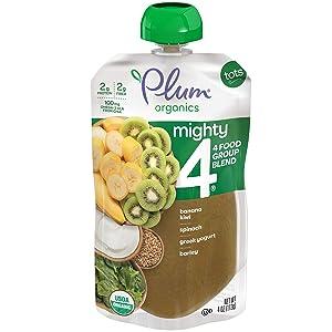 Plum Organics,Banana, Kiwi Spinach Kale, 4 oz