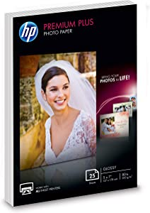 HP Premium Plus Photo Paper | Glossy | 5x7 | 25 Sheets (4WN04A)