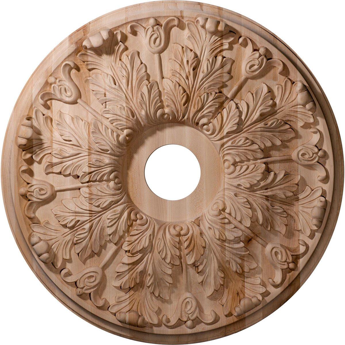 Ekena Millwork CMW24FLRO 24-Inch OD x 2 1/4-Inch P Carved Florentine Ceiling Medallion, Red Oak