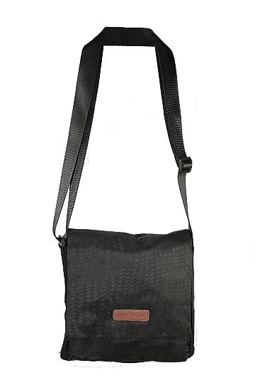 412d556d9aae5 Marc Picard Handtasche Veronique Nylon Beuteltasche Schultertasche  Umhängetasche Tragetasche (dunkelbraun schwarz)