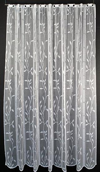 Scheibengardine Raffrollo Blätterranke 180 cm hoch | Breite der