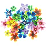 Set of 30 Edible Cupcake Toppers Wedding Cake Birthday Party Food Decoration Mixed Size & Colour (Flower)