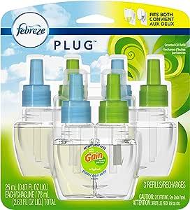 Febreze Plug Air Freshener Oil Refill, Gain