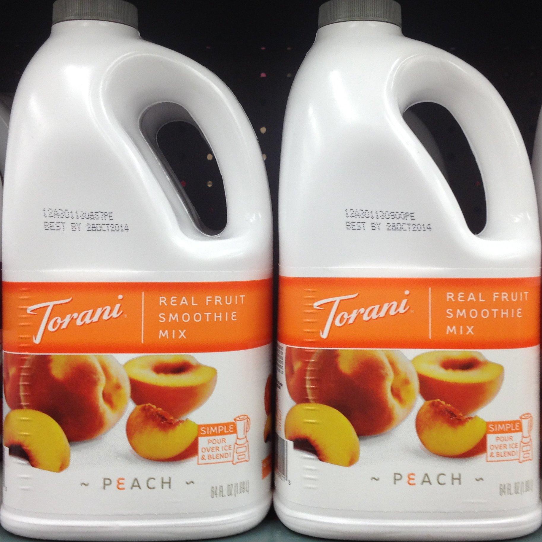 Torani Real Fruit Smoothie Mix PEACH 64oz (2 Pack) by Torani
