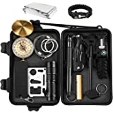 13 in 1 Portable SOS Emergency Survival Kit Multi Professional Tools Outdoor for Traveling/Hiking/Biking/Climbing/Hunting