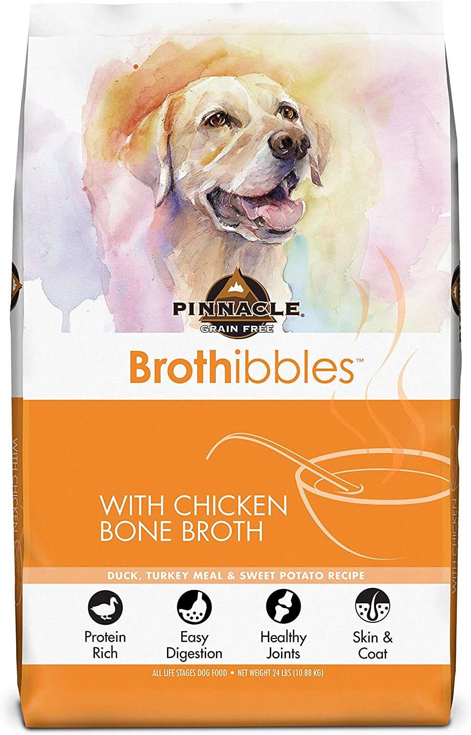 Pinnacle Pet Brothibbles Bone Broth Dry Dog Food, Protein Rich, And Easy Digestions All Life Stages